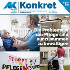Titelbild AK Konkret zum Thema Pflege