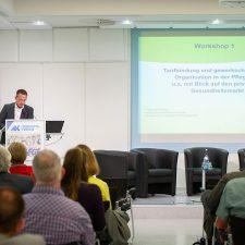 Teilnehmer und Vortrag zum Workshop1