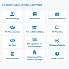 Screenshot Startseite des Themenportals