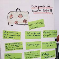 """Plakat Resilienzseminar """"Ich packe meinen Koffer und nehme mit"""""""