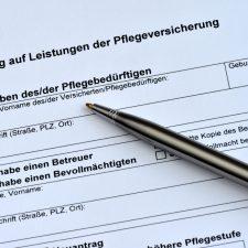 Formular zum Antrag auf Leistungen bei der Pflegeversicherung