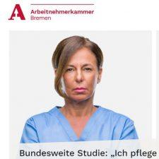 Aussschnitt Website Arbeitnehmerkammer Krankenschwester