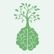 Das Logo des Menthal Health Days. Ein Gehirn aus dem ein Baum wächst stilisiert als Symbolgrafik